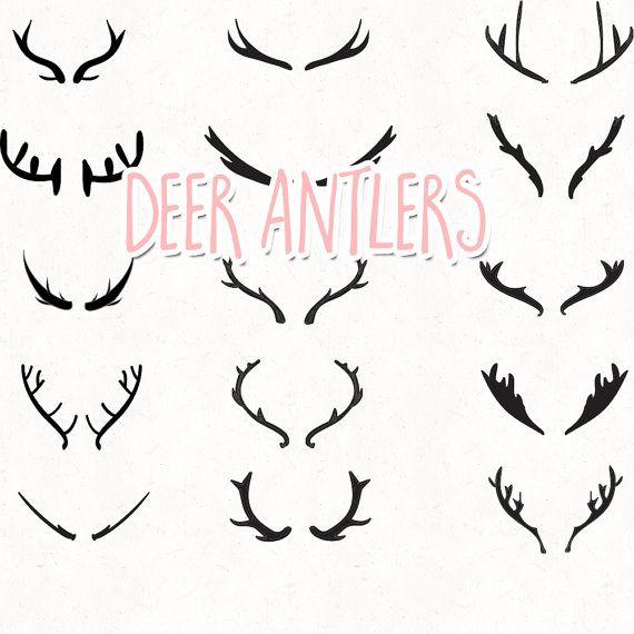 Antlers clipart craft. Deer vector antler clip