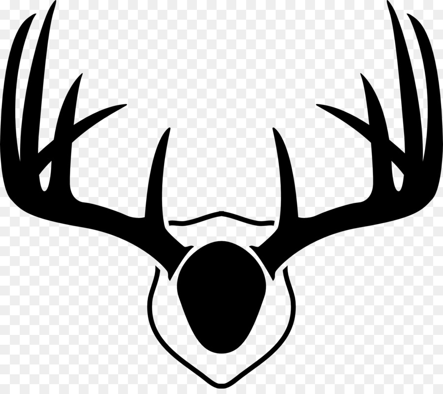 Antlers clipart deer antler. Reindeer white tailed drawing