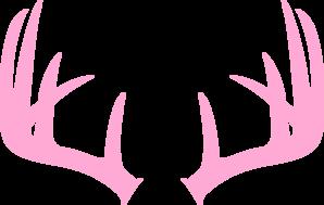 Antlers clipart deer rack. Pink antler clip art