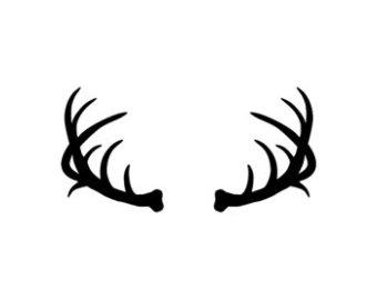 Antler clipart buck antler. Vector deer clip art