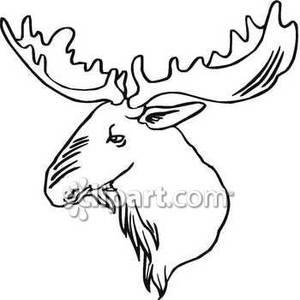 Moose drawing at getdrawings. Antlers clipart easy