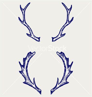 Deer horns vector by. Antlers clipart easy
