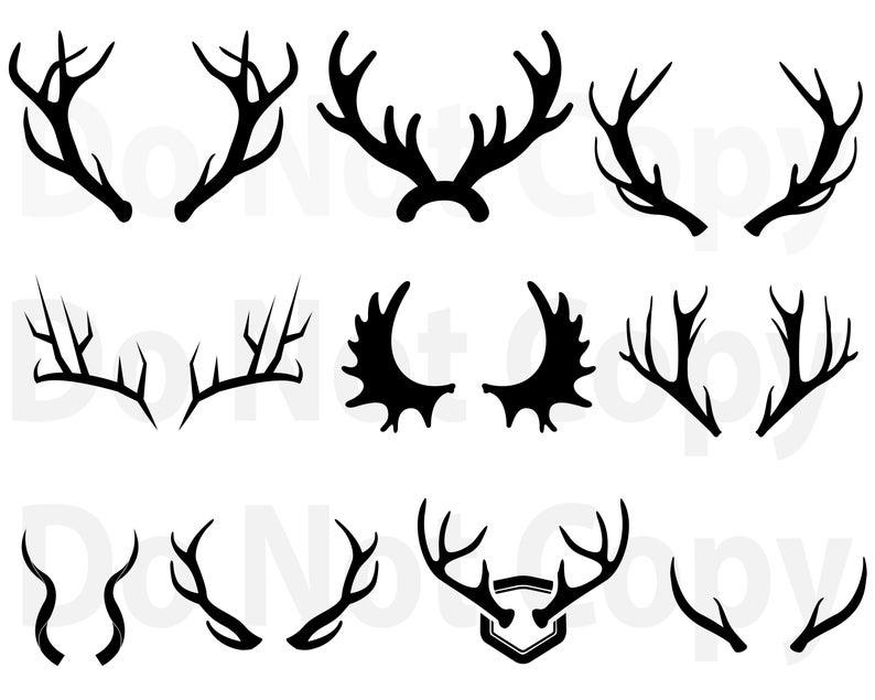 Svg bundle deer for. Antlers clipart file