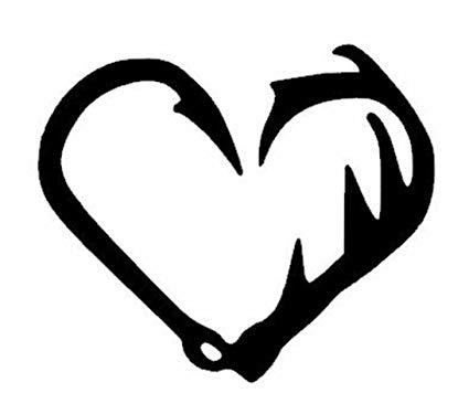 Amazon com antler heart. Antlers clipart fish hook