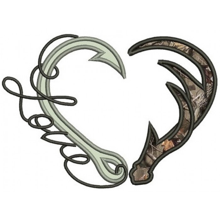 Antler fishing embed codes. Antlers clipart fish hook