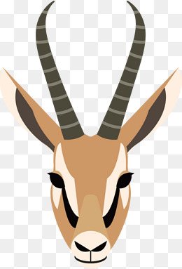 Antelope horn png images. Antlers clipart gazelle