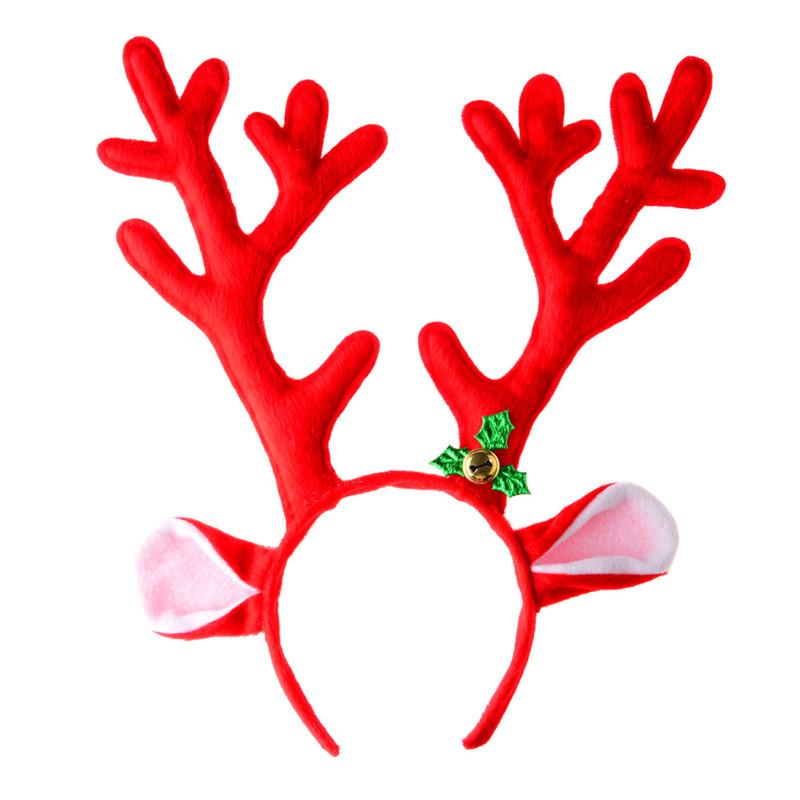 New arrival santa deer. Antlers clipart headband