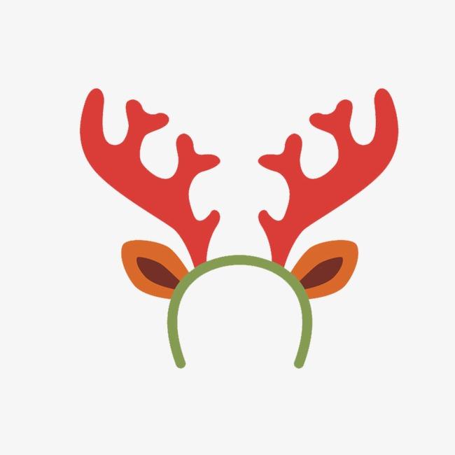 Cartoon reindeer star headbands. Antlers clipart headband