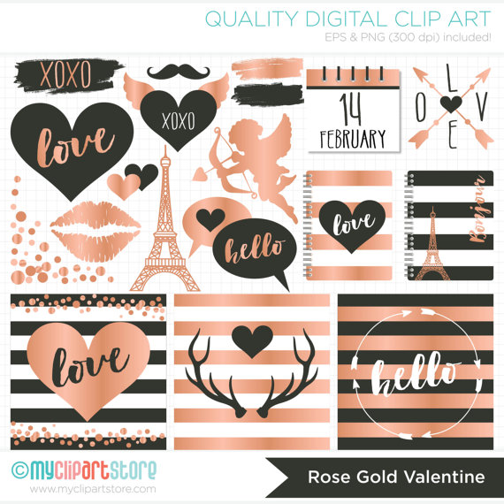 Digital stamps valentines day. Antlers clipart hipster