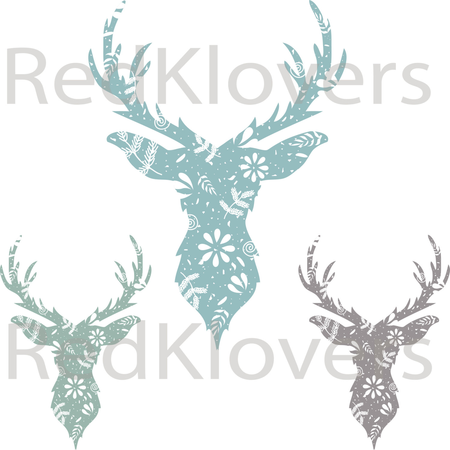 Deer buck flowers indy. Antlers clipart hipster