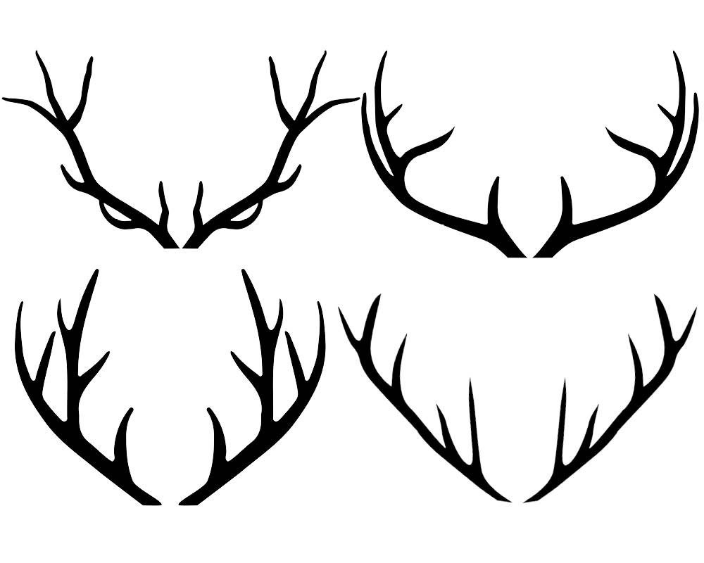 Antlers clipart hipster. Svg free thekindproject deer