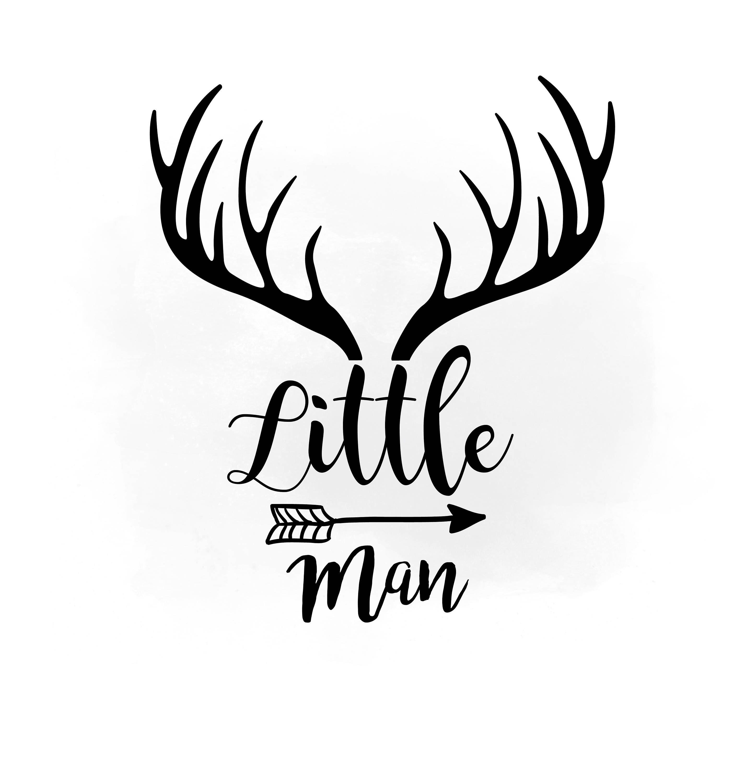 Antlers clipart little man. Svg antler hornes boho