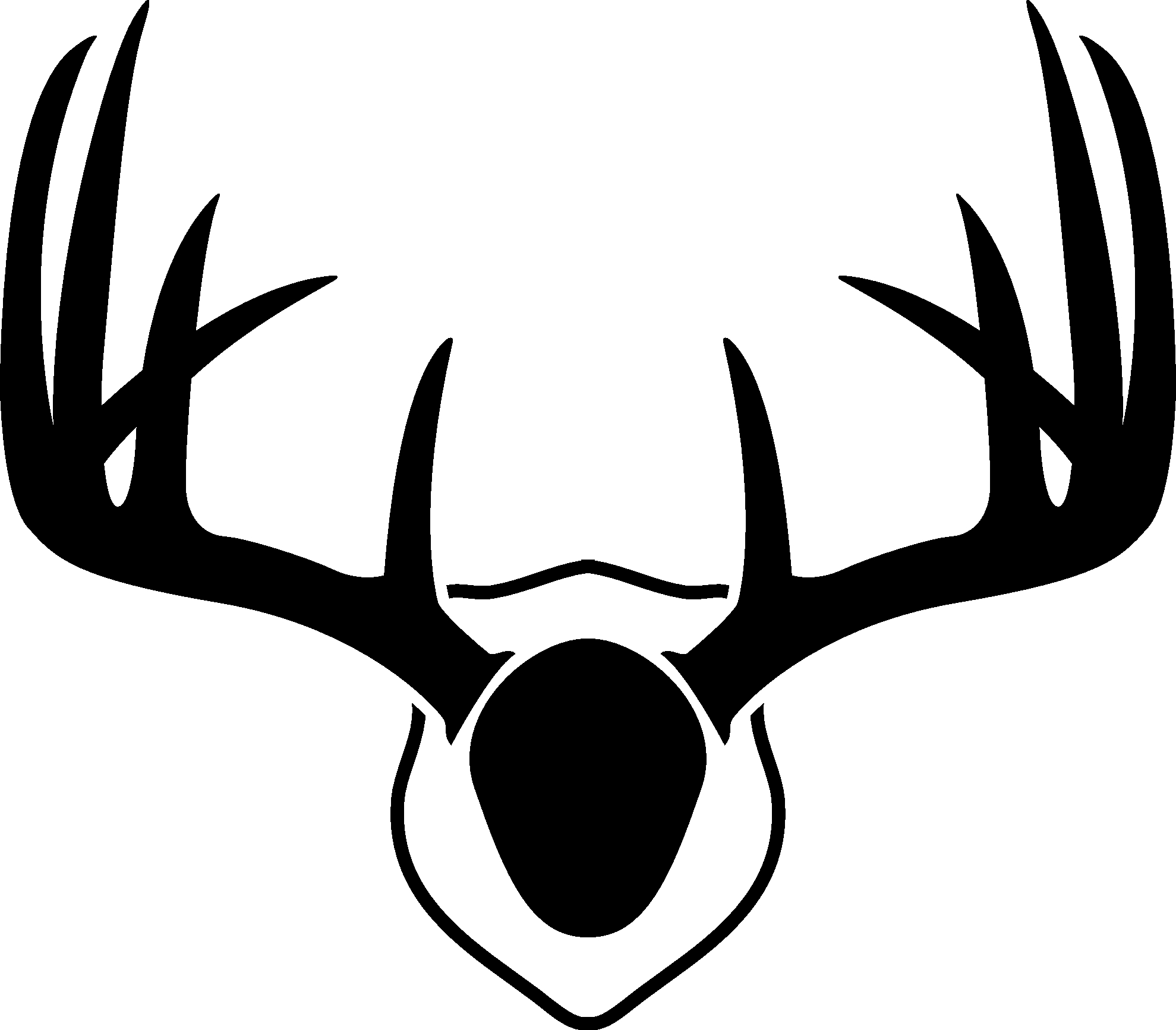 Antlers clipart outline. New deer collection digital