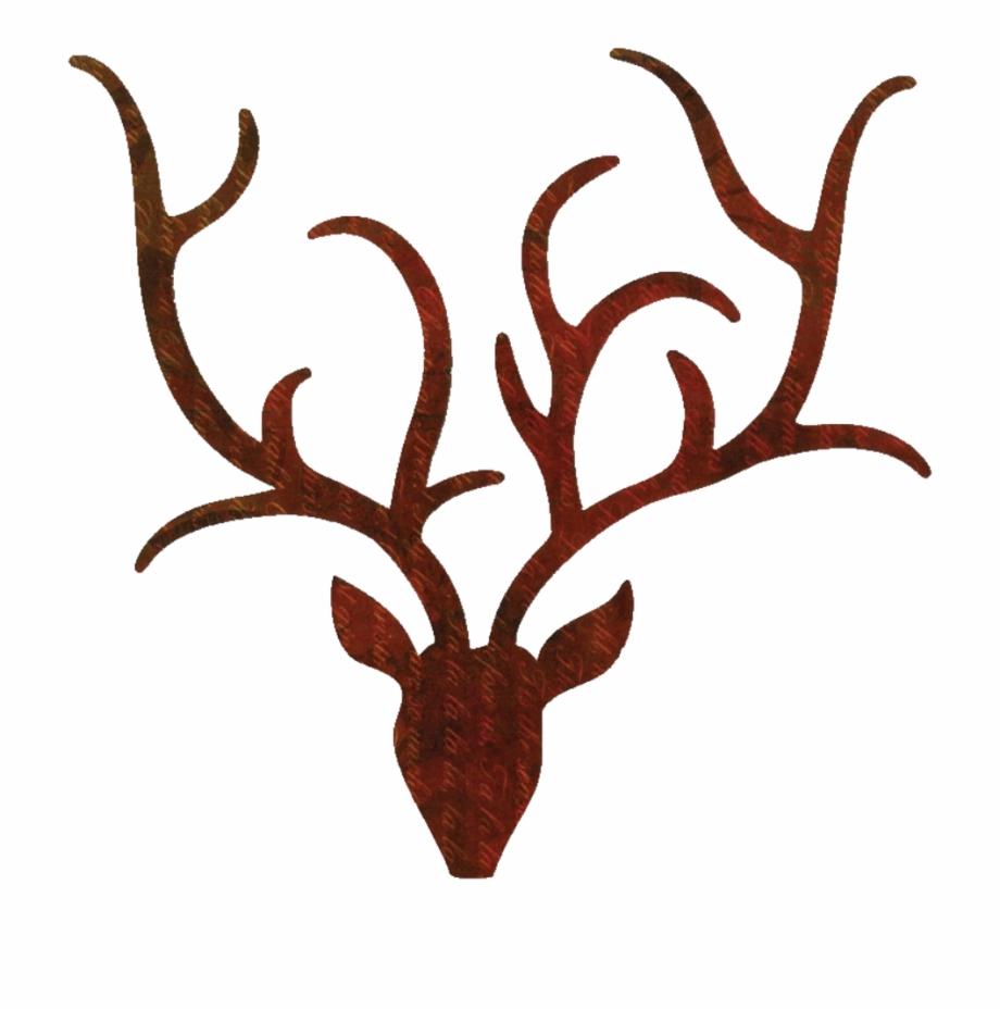 Antlers clipart outline. Reindeer transparent