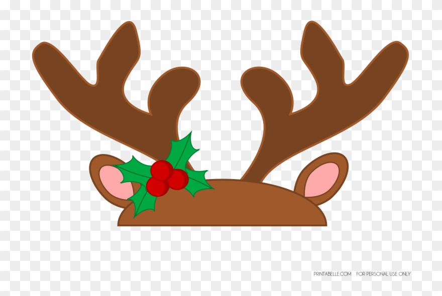 Reindeer transparent background . Antlers clipart printable