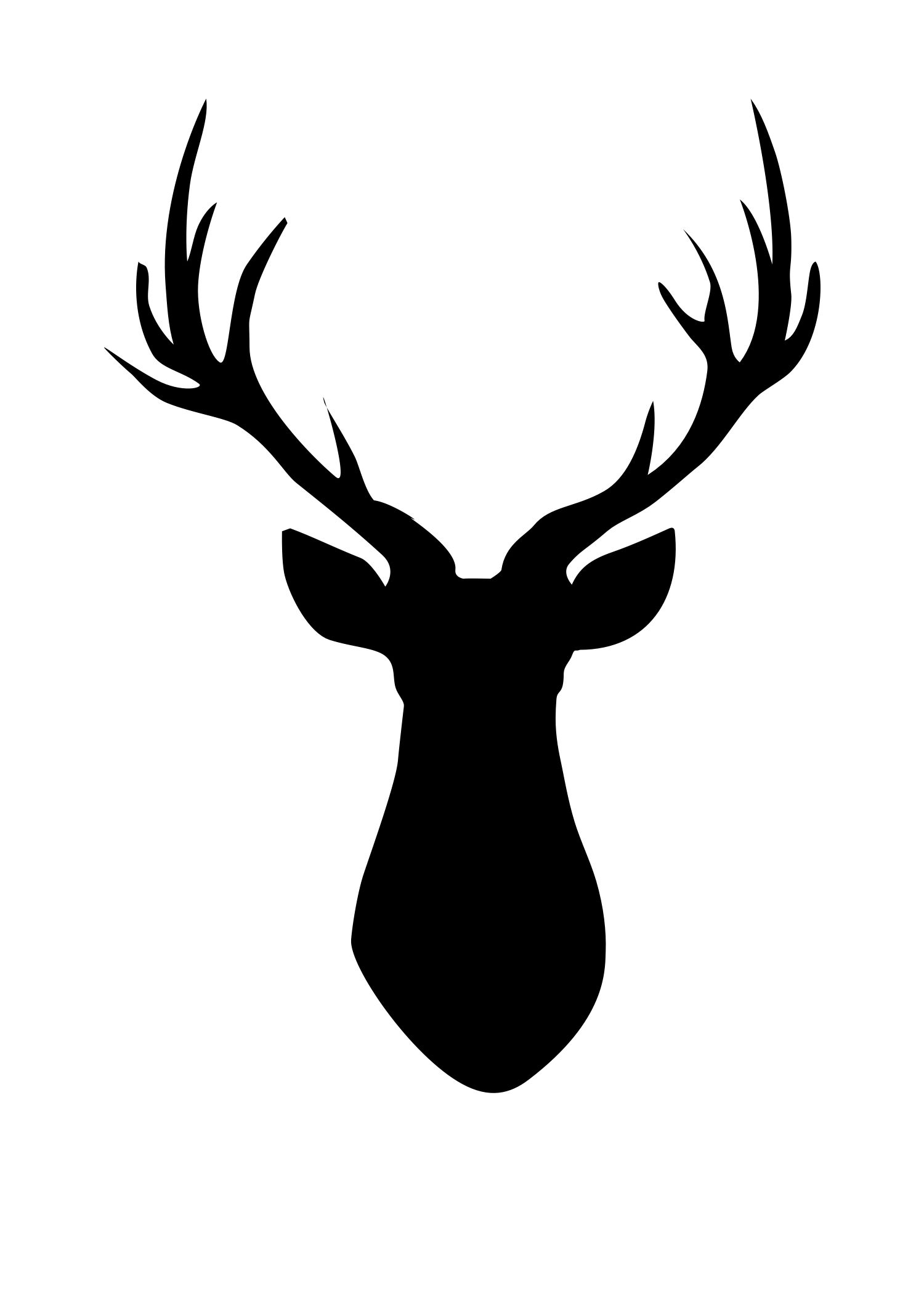 Ever popular free deer. Antlers clipart printable