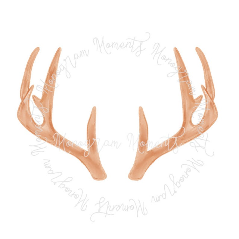 Watercolor hunting png deer. Antlers clipart printable