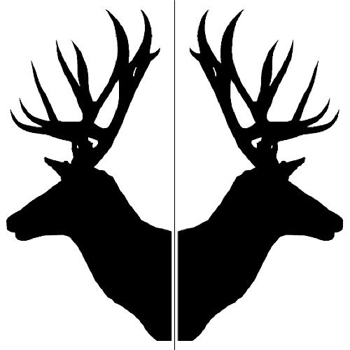 Antlers clipart profile.  collection of reindeer