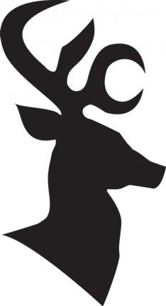 Antlers clipart profile. Reindeer images all stencil