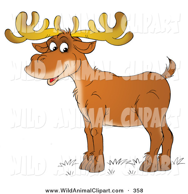 Antlers clipart profile. Clip art of a