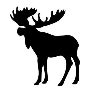 Moose silhouette at getdrawings. Antlers clipart profile