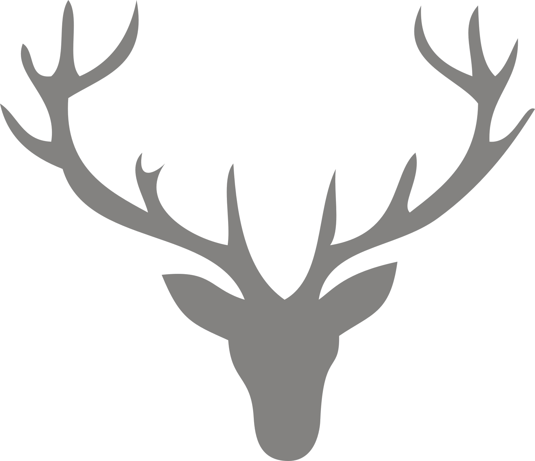 Reindeer antler clip art. Antlers clipart profile