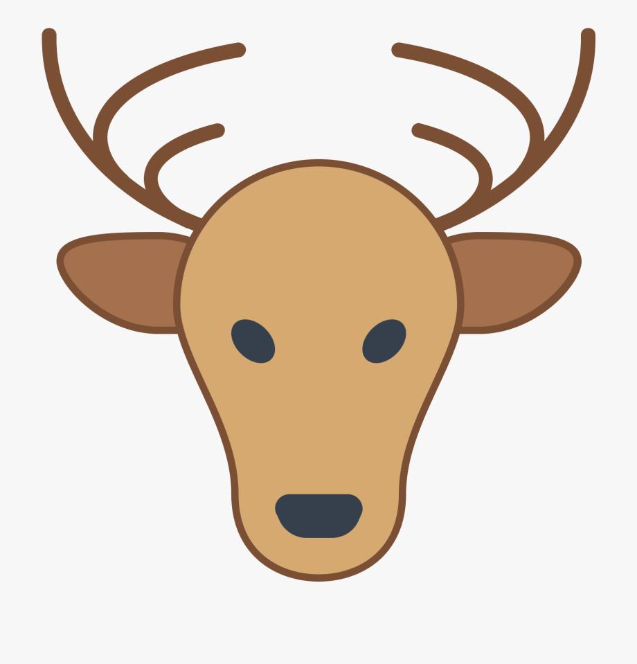 Deer skull cartoon free. Antlers clipart profile