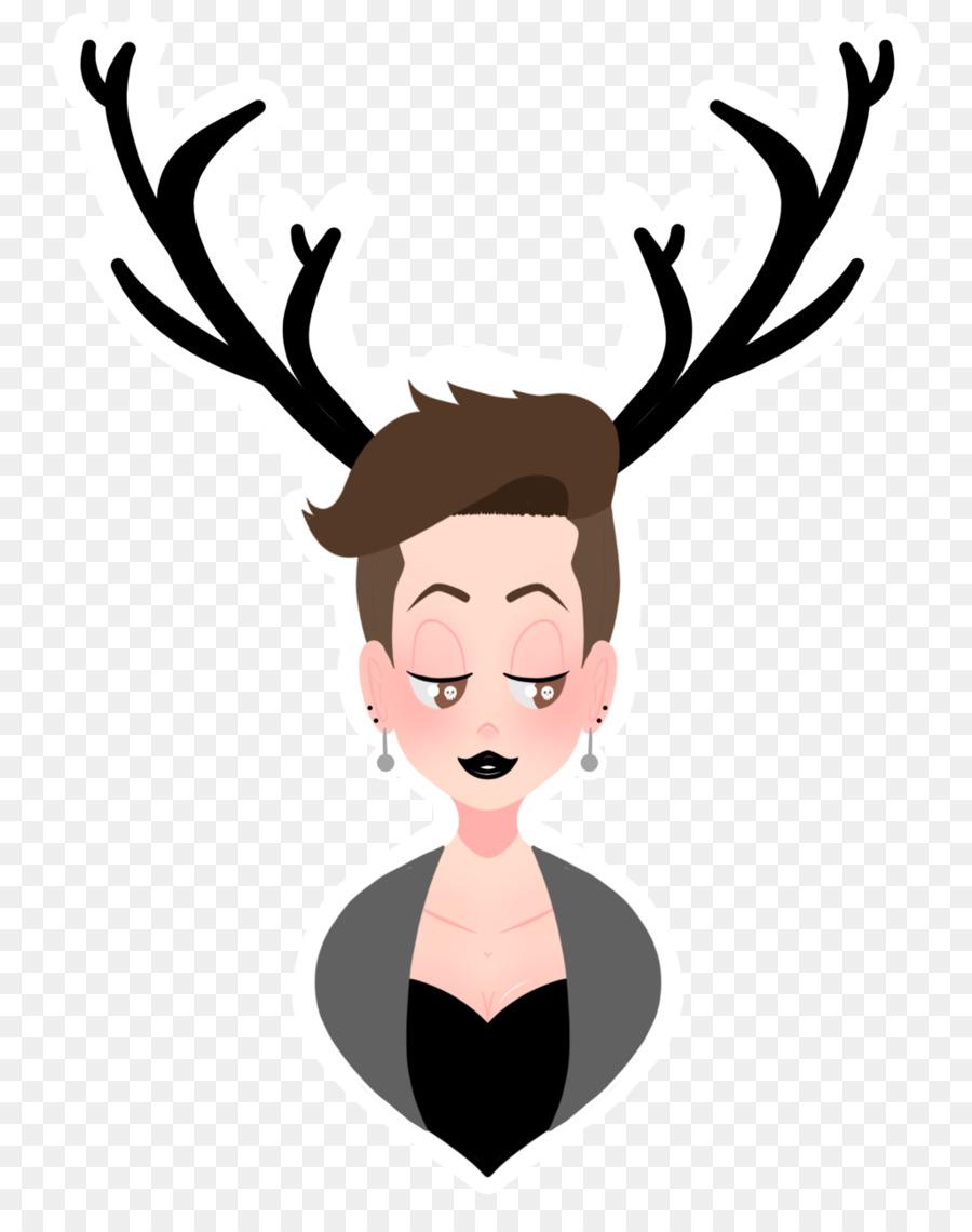 Antler clip art girlfriends. Antlers clipart reindeer ear