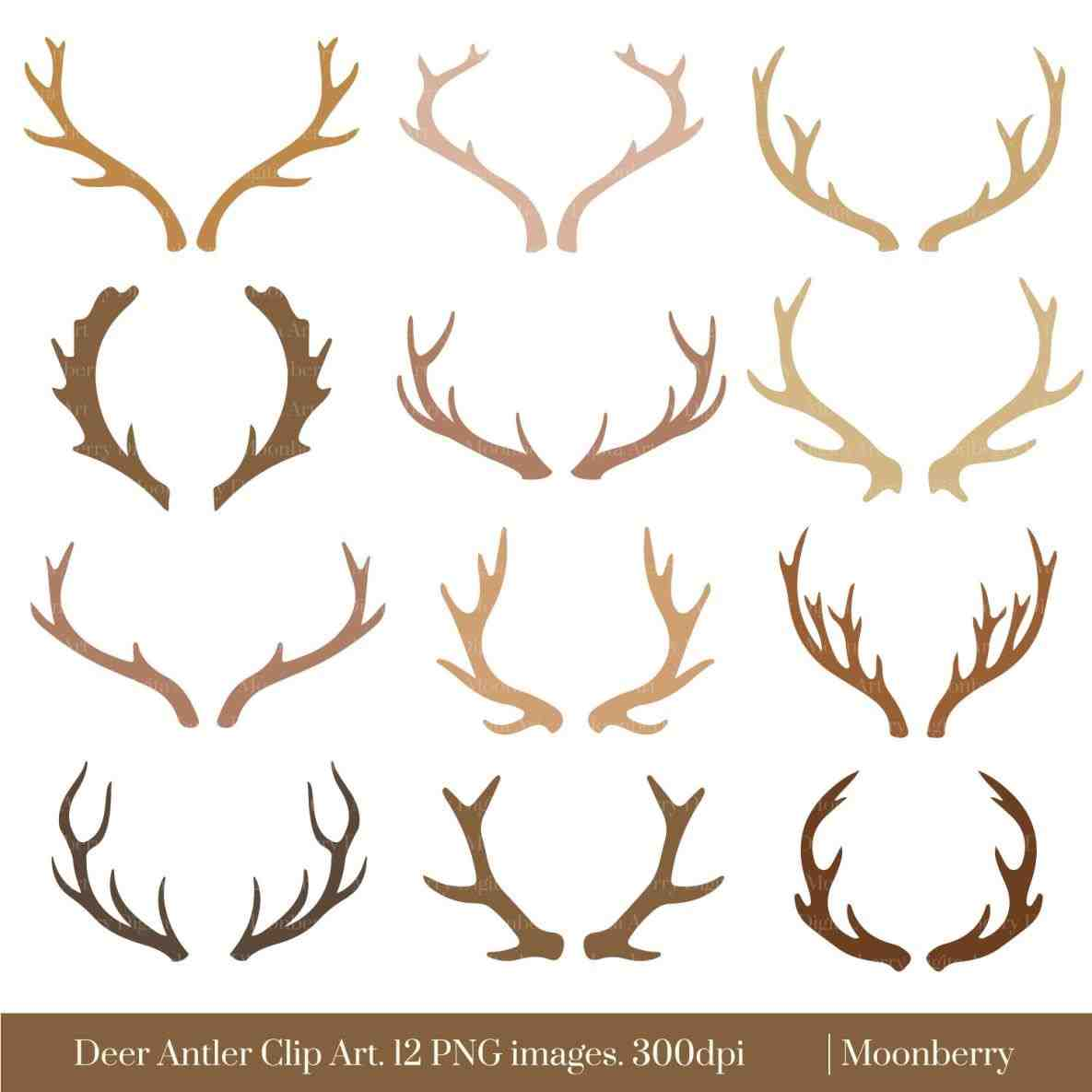 Antlers clipart reindeer ear. Tesa template for head