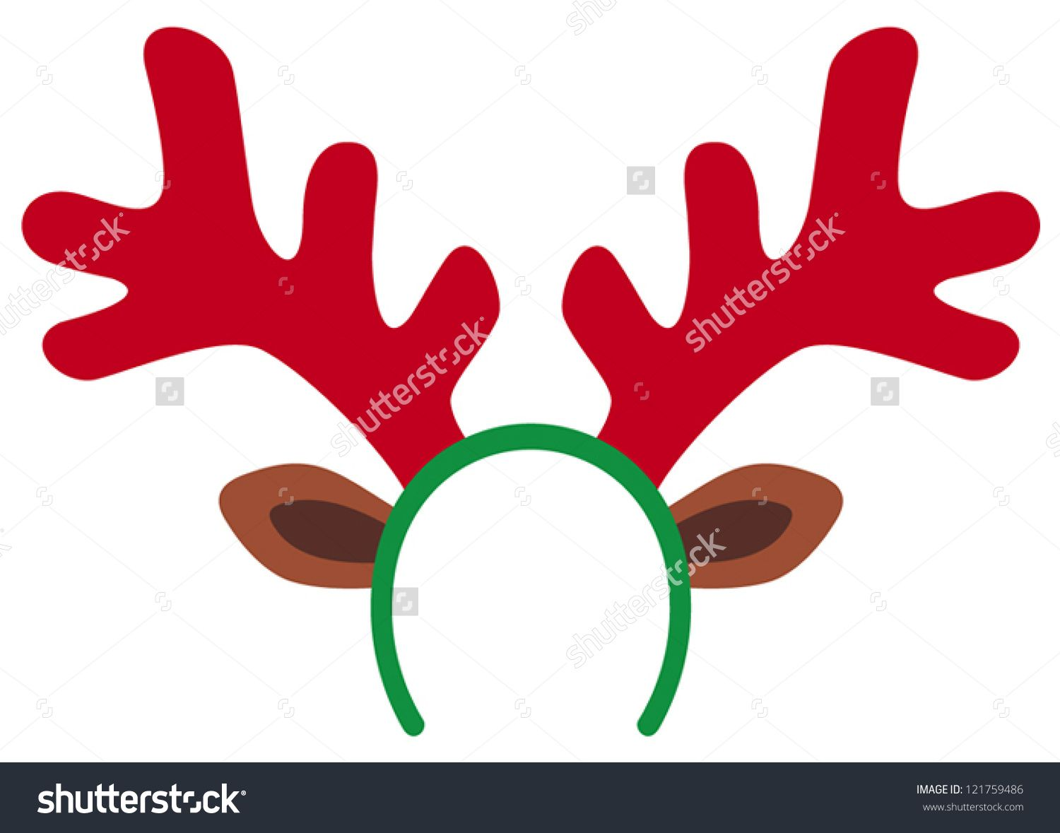 Christmas deer clipartfox crafts. Antlers clipart rudolph