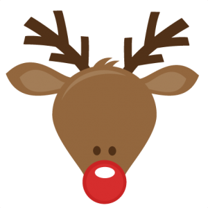 Antlers clipart rudolph the red nosed reindeer. Merry christmas dr dud