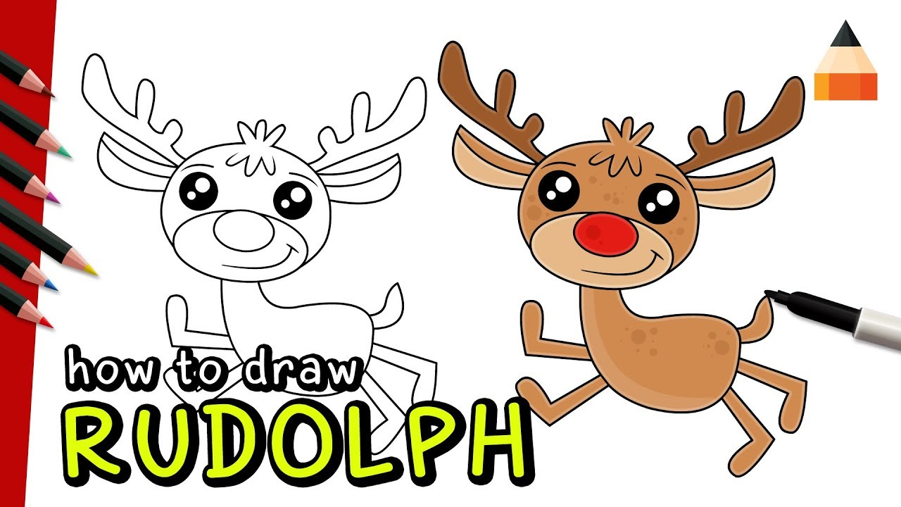 How to draw watch. Antlers clipart rudolph the red nosed reindeer