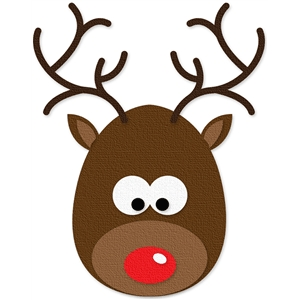 Antlers clipart rudolph the red nosed reindeer. Silhouette design store view