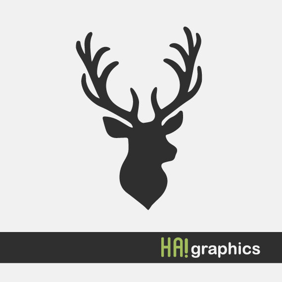 Antlers clipart silhouette. Svg and dxf file