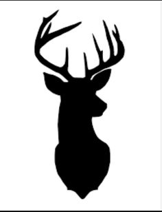 Antlers clipart silhouette. Deer antler clip art