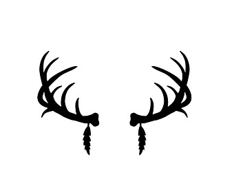 Silhouette at getdrawings com. Antler clipart deer rack