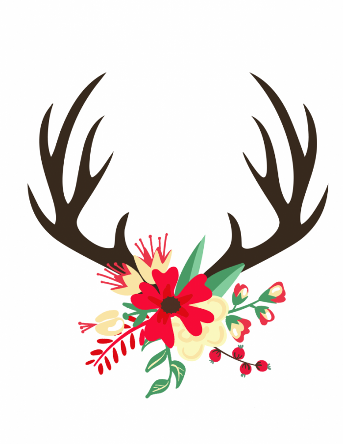 Antlers clipart simple. Easy christmas kitchen decor