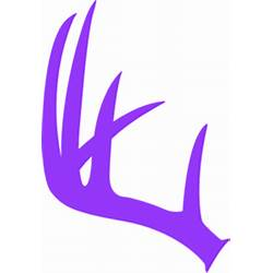 Antlers clipart single. Antler clip art flower