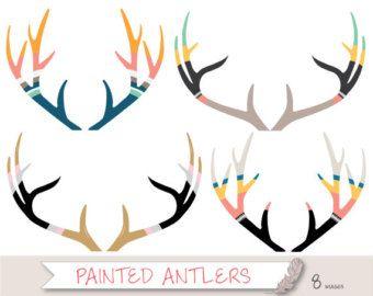 Antler deer clip art. Antlers clipart stag