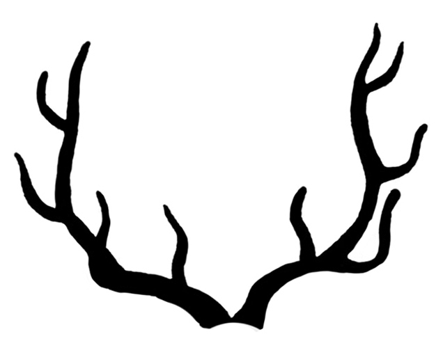deer and the. Antlers clipart stag