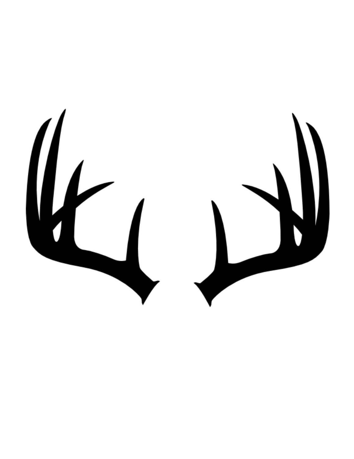 Antlers clipart stencil. Made from ply mat