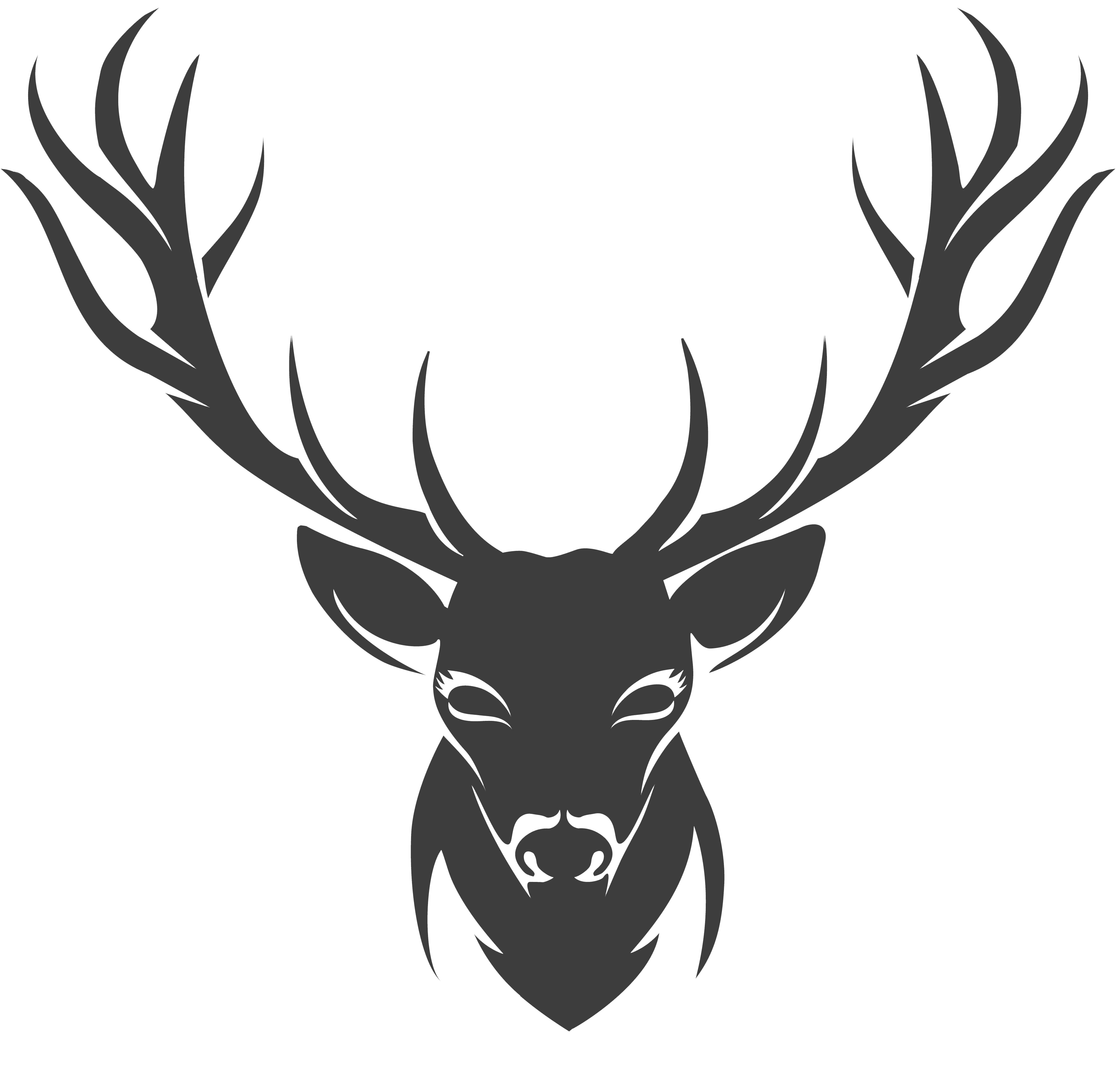 Antlers clipart stencil. Deer drawing horns png