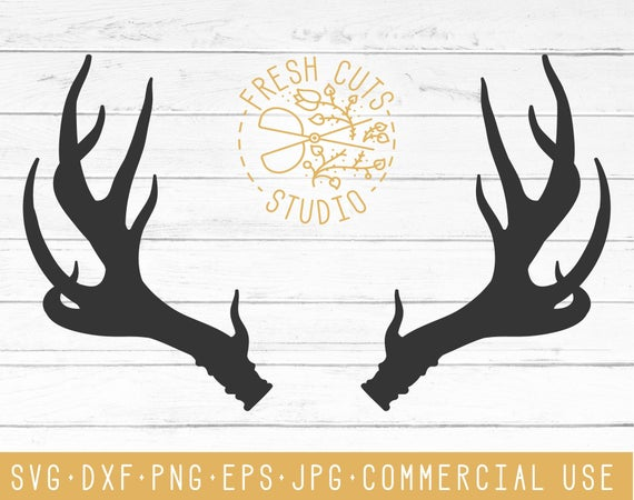 Antlers clipart svg. Antler silhouette design vector
