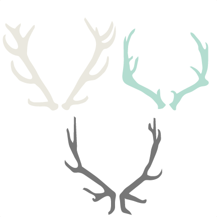 Antler set cutting files. Antlers clipart svg