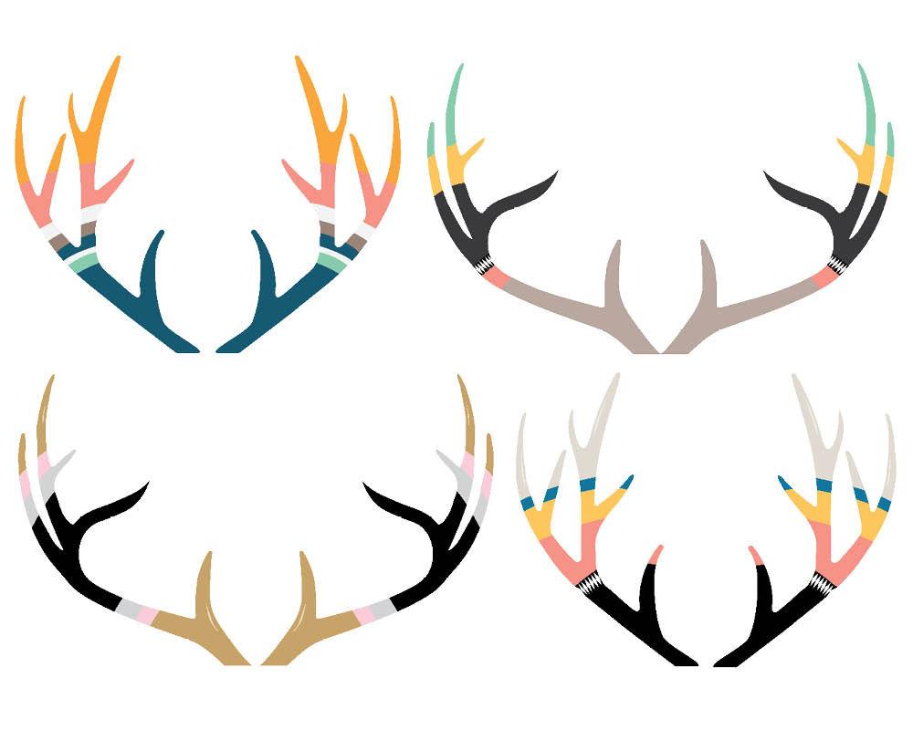 Elk clip art library. Antlers clipart tribal