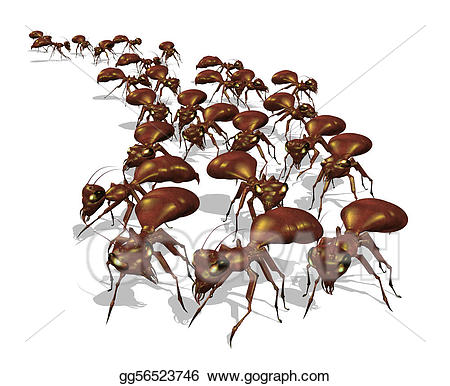 Ants clipart army ant. Stock illustration of gg