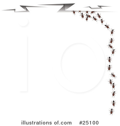 Illustration by leo blanchette. Ants clipart border