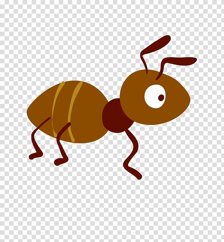 Ants clipart clear background. Brown ant illustration cartoon