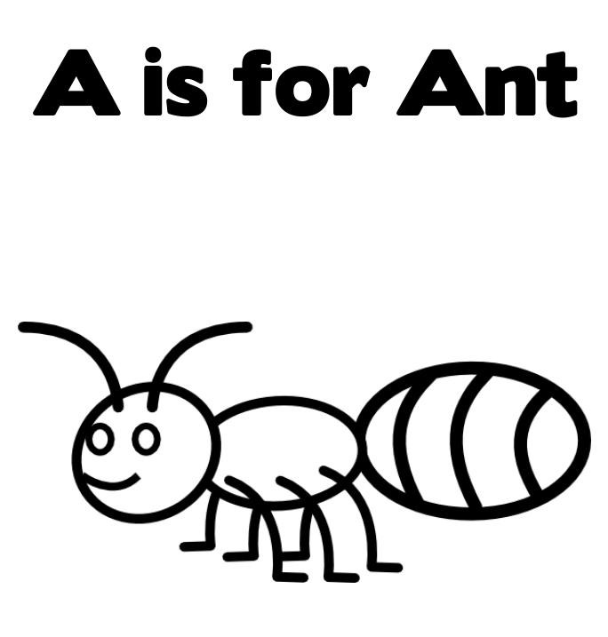 Coloring sheets for kids. Ants clipart colour