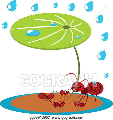 Ants clipart family. Vector stock red protect